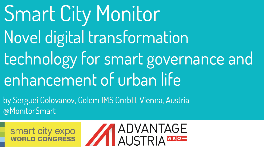 Smart City Monitor on SCEWC 2016